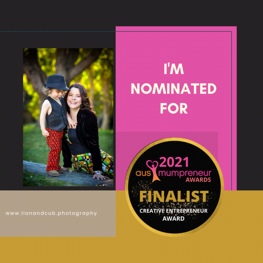 We are finalists in the Creative Category of the Ausmumpreneur Awards